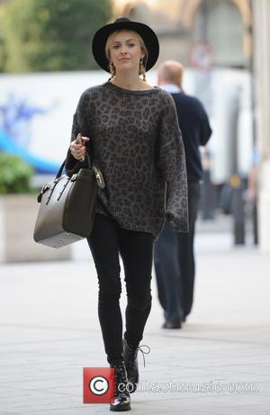 Radio 1 DJ Fearne Cotton seen as she arrives at the BBC Radio 1 studios to host her morning show...