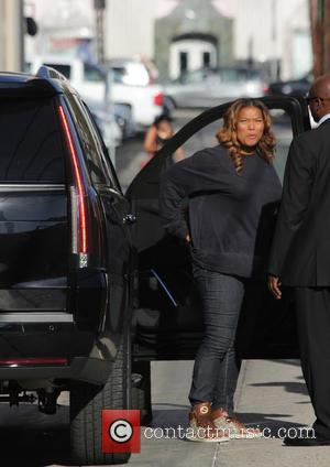 Queen Latifah - Queen Latifah arriving for her appearance on Jimmy Kimmel Live! - Los Angeles, California, United States -...