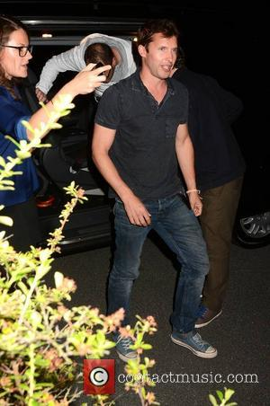 James Blunt - Celebrity guests arrive at RTE for The Late Late Show - Dublin, Ireland - Friday 12th September...