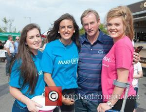 Kate Allen, Sinead Clark, Enda Kenny and Laura Honan (Make a Wish) - 'Supercar' enthusiasts gathered at the Cannonball 2014...
