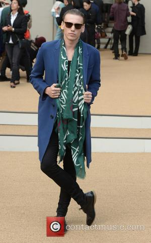 Jamie Campbell Bower - London Fashion Week Spring/Summer 2015 - Burberry - Arrivals - London, United Kingdom - Monday 15th...