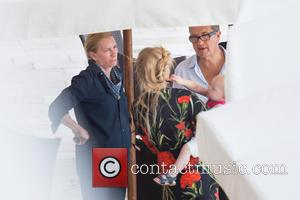 Mario Testino, Lara Stone and Alfred Walliams - Fashion photographer Mario Testino on set at Hotel Excelsior Dubrovnik, shooting a...