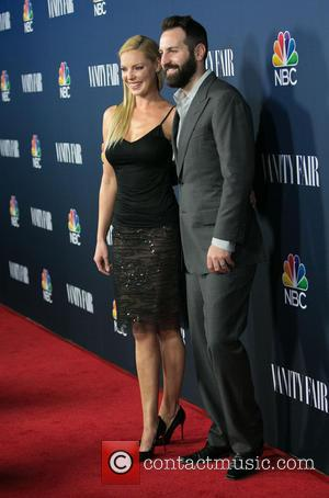 Katherine Heigl and Josh Kelley - Celebrities we photographed as the arrived at the NBC & Vanity Fair 2014-2015 TV...