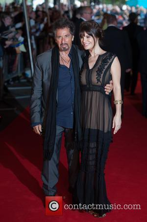 Al Pacino and Lucila Polak - Stars arrived at the South bank in London for the Gala screening of 'Salome'...
