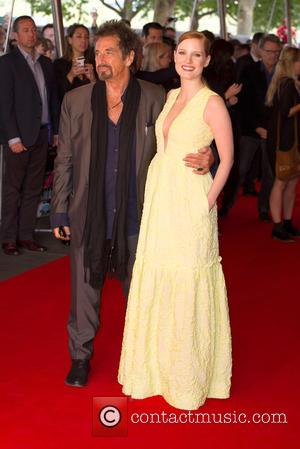 Al Pacino and Jessica Chastain - Gala screening of 'Salome' - Arrivals at Southbank, South Bank - London, United Kingdom...