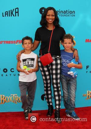 Garcelle Beauvais, Jaid Thomas Nilon and Jax Joseph Nilon - Preimere of 'The Boxtrolls' - Arrivals at AMC Universal CityWalk....