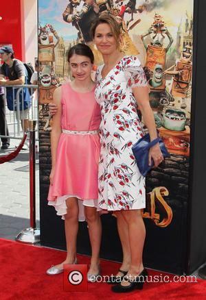 Amy Brenneman and Charlotte Tucker Silberling - Stars of the new animated, adventure comedy 'The Boxtrolls' were photographed on the...