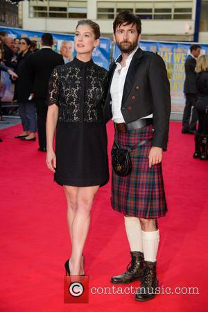 Rosamund Pike and David Tennant - 'What We Did on Our Holiday' Premiere - Arrivals - London, United Kingdom -...