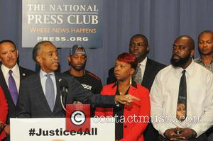 Al Sharpton, Leslie McSpadden and Michael Brown - Civil rights leaders join the families of Michael Brown and Eric Garner...