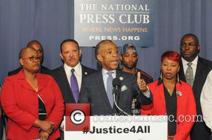 Al Sharpton, Marc Morial, Leslie McSpadden and Melanie Campbell - Civil rights leaders join the families of Michael Brown and...