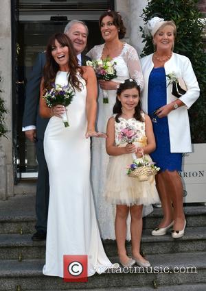 Brian Wogan, Jane Wogan and Paula Wogan & family - Terry Wogan niece Wedding - Dublin, Nevada, Ireland - Friday...