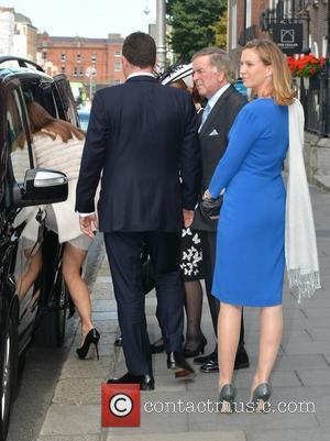 Terry Wogan & family - Terry Wogan niece Wedding - Dublin, Nevada, Ireland - Friday 26th September 2014