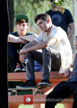 Zac Efron and Alex Shaffer - Actor Zac Efron filming a scene for his new movie 'We Are Your Friends'...