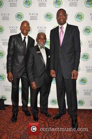 Ray Allen, Dr.oheneba Boachie-adjei and Dikembe Motombo