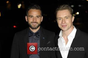 Dean Edwards and James Tanner - A variety of British stars attended the event held at the Langham Hotel to...