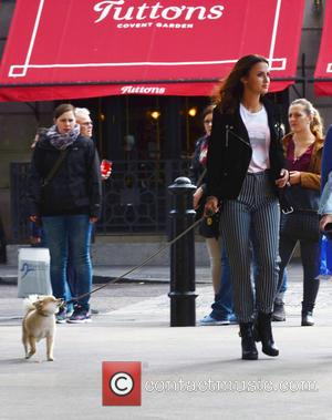 Lucy Watson who is best known for her role in the British TV show Made in Chelsea seen attending the...