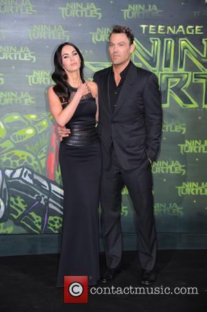Megan Fox and Brian Austin Green - Stars from the blockbuster movie 'Teenage Mutant Ninja Turtles' attended the German premiere...