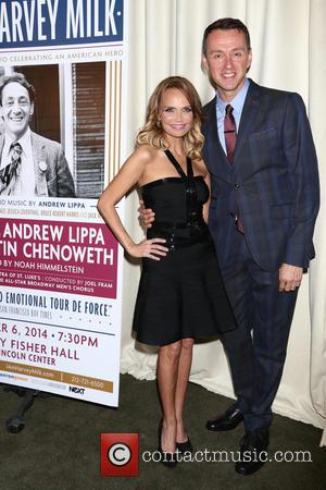 Kristin Chenoweth and Andrew Lippa - 'I Am Harvey Milk' - After party at Bryant Park Grill,, Bryant Park -...
