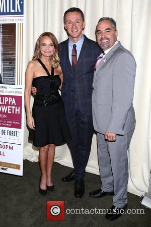 Kristin Chenoweth, Andrew Lippa and Thomas Krever - 'I Am Harvey Milk' - After party at Bryant Park Grill,, Bryant...