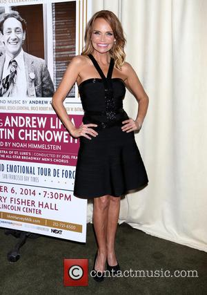 Kristin Chenoweth wearing Herve Leger - 'I Am Harvey Milk' - After party at Bryant Park Grill,, Bryant Park -...