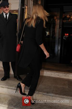 Kate Moss - Celebrities outside 34 restaurant in London - London, United Kingdom - Wednesday 8th October 2014