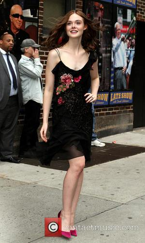 Elle Fanning - Chelsea Handler, Elle Fanning and Robert Duval were guest on the Late Show with David Letterman at...