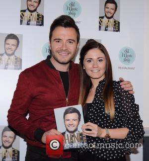 Shane Filan and Hazel Moore - Shane Filan launches his autobiography 'My Side of Life' at Old Music Shop -...