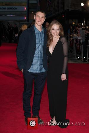 George Mackay and Charlotte Spencer - BFI London Film Festival - 'Bypass' screening - Arrivals at Odeon West End -...