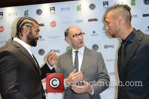 David Haye, Colin Leslie and Ruben Tabares - British heavyweight boxer David Haye along with other celebs were photographed at...