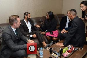 David Haye and interviewed - Celebrities attend David Haye's PT Club launch party - London, United Kingdom - Tuesday 14th...