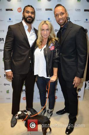 David Haye, Meg Mathews and Ruben Tavares - Celebrities attend David Haye's PT Club launch party - London, United Kingdom...