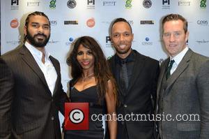 David Haye, Sinitta, Ruben Tabares and Guest - Celebrities attend David Haye's PT Club launch party - London, United Kingdom...