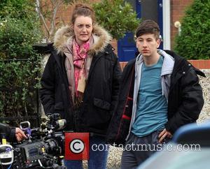 Rachel O'Byrne and Barry Keoghan - Rachel Griffiths filming scenes for her new movie 'Mammal' - Dublin, Ireland - Wednesday...