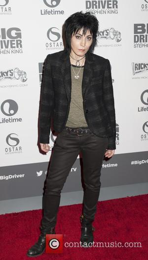 Joan Jett - Photographs from the New York City Screening of Lifetime's 'Big Driver' at the Angelika Film Center in...
