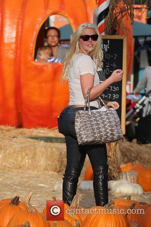 Karissa Shannon arrives at Mr Bones Pumpkin Patch