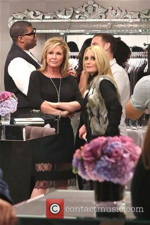 Kathy Hilton and Kim Richards - Photos from the book signing of Nicky Hilton's '365 Style' The signing was held...