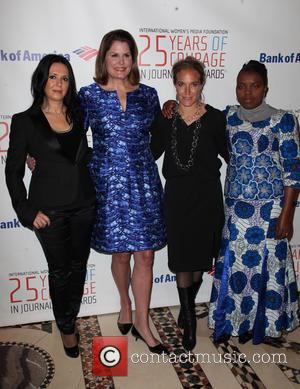 (L-R) Journalist, Honoree Brankica Stankovic, Executive Vice President of Global Communications, The Estee Lauder Companies Inc, Vice-Chair, IWMF Board of...