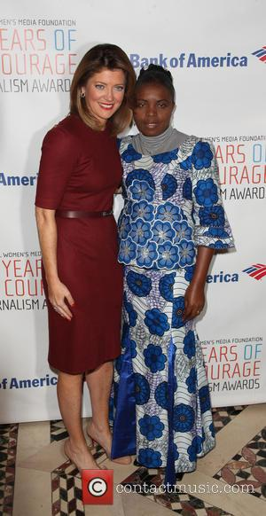 Norah O'Donnell and Solange Lusiku Nsimire - International Women's Media Foundation Awards luncheon at Cipriani in Midtown - Arrivals -...