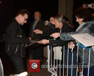 Bono - Celebrities at the RTE studios for 'The Late Late Show' - Dublin, Ireland - Friday 24th October 2014