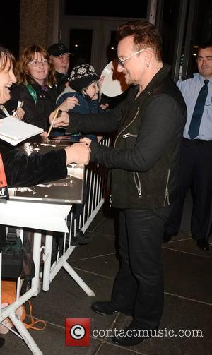 Bono - Celebrities at the RTE studios for the 'The Late Late Show' - Dublin, Ireland - Friday 24th October...