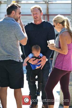 Ian Ziering and Penna Ziering - Ian Ziering with his family at the Studio City Farmers Market at Studio City...