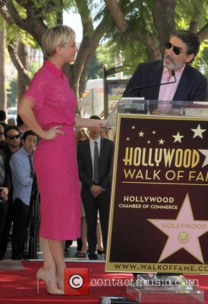 Kaley Cuoco and Chuck Lorre