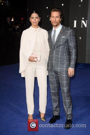 Camila Alves and Matthew McConaughey - 'Interstellar' UK film premiere held at the Odeon Cinema Leicester Square - Arrivals -...