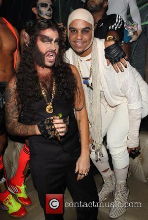 Adam Lambert and Jovan Carrington - Adam Lambert's 2nd Annual Halloween Bash presented by business entrepreneurs John Terzian and Brian...
