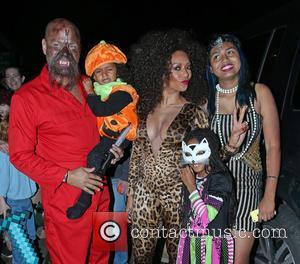 Melanie Brown, Stephen Belafonte, Madison Brown Belafonte, Phoenix Gulzar and Angel Murphy Brown - Jonathan Ross' Halloween party - Arrivals...