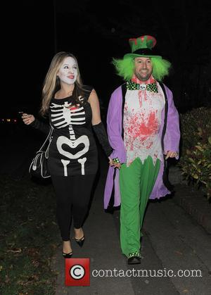 David Mitchell and Victoria Coren Mitchell - 'Jonathan Ross' Halloween party - Arrivals - London, United Kingdom - Friday 31st...