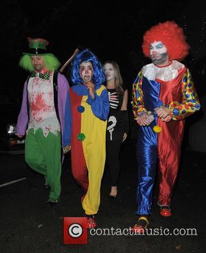 David Mitchell, Victoria Coren Mitchell, Konnie Huq and Charlie Brooker - 'Jonathan Ross' Halloween party - Arrivals - London, United...