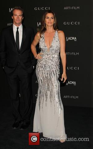 Cindy Crawford & Rande Gerber - A variety of celebrities were photographed as they arrived at the 2014 LACMA Art+Film...