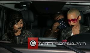 Black China and Amber Rose - A variety of celebs were photographed as they left the Pinz Bowling in Studio...