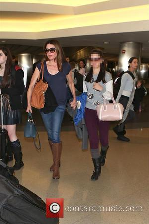 Jane Leeves and Isabella Coben - Jane Leeves and her daughter at Los Angeles International Airport (LAX) - Los Angeles,...